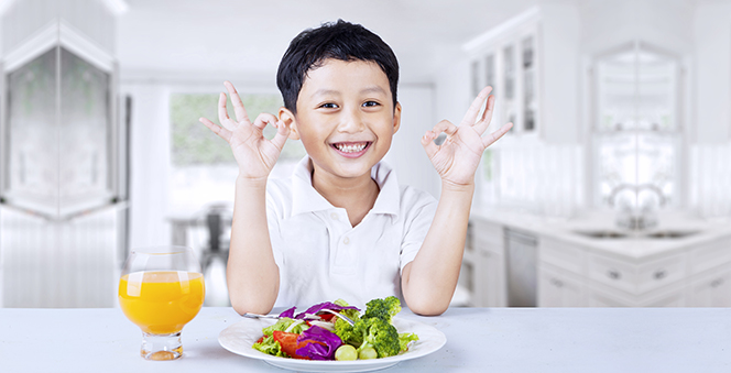 Protein Rich food for Kids Banner