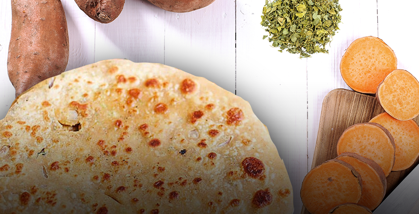 Sweet Potato & Methi Paratha